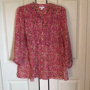 Charter Club floral top. Size L